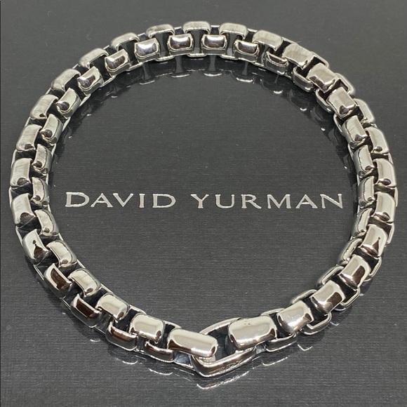 David Yurman 7mm men's box link bracelet s…